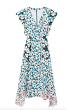 A combination of three gorgeous springtime prints combine in the most beautiful way to create this stunning dress from Rebecca Taylor.  This midi dress is an extremely wearable shape with a v-neck and a nod to spring and summer romance.  It's a dress that once you put on you forget about as it slides effortlessly and flatteringly over your body.