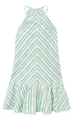 Emerald Stripe Tank Dress