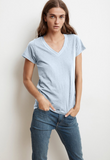 Another perfectly crafted tee from Velvet by Graham & Spencer.  The depth of the v, the softest cotton and a flattering silhouette combine to create a tee that you will want to wear almost daily. Please may we have one in every colour!