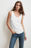 Crafted from Velvet by Graham & Spencer's signature whisper soft cotton slub this tank has an incredible texture and a flattering silhouette.  By cutting in slightly at the armholes you get to show off your shoulders!  With a slightly relaxed shape this will be a tank that spends very little time in your wardrobe.