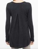 Grey Pleat Back Jumper