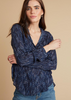 Effortless dressing from Bella Dahl.  This floaty blouse in a pretty navy print with pink details has a great relaxed shape and will go with all your skinny jeans or pair with a skirt for a dressed up look.