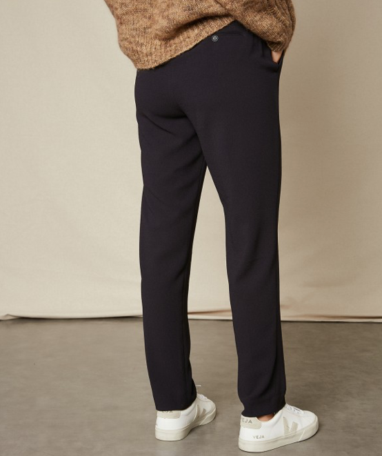 Pirouette Navy Crepe Trousers