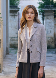 Gorgeous short jacket from our favourite luxe Italian brand Amina Rubinacci.  Crafted from the softest wool and nipped in at the waist this will look equally look with tailored trousers or jeans.  To put on an Amina jacket is to fall in love with Amina.