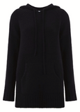 Scrumptiously soft cashmere and wool blend hoodie from Madeleine Thompson.  In always wearable black with a relaxed shape and a nice long length this is just what you will want to cuddle up in as the nights draw in.