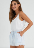 Desert Sky Frayed Hem Sporty Short