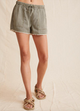 Thank you Bella Dahl for creating the perfect pull on comfy shorts.  Featuring a drawstring waist, side pockets and a frayed hem these are as stylish as they are practical.  Who doesn't love a pocket! With a lovely relaxed fit these are as perfect for the beach as they are for running around at home.  You'll definitely want these in every colour!