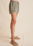Khaki Frayed Hem Pocket Short