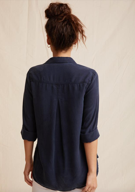 Navy Shirt Tail Button Down