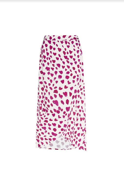 The beautiful Cora Skirt from Fabienne Chapot is an easy addition to your wardrobe.  Shown here in a pretty pink leopard  print this pairs perfectly with a tee, sweatshirt or jumper.  Can easily be dressed up or down and feels lovely against your skin.