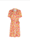 The Boyfriend Coco Dress from Fabienne Chapot is a comfortable oversized dress with a tie belt made super feminine by the gorgeous multi coloured print.  Crafted from their super soft fabric this is a throw on and go dress which looks great paired with trainers for a stylish yet relaxed look.