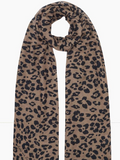 Calling all animal print lovers!  This super soft cashmere and model blend scarf from Lily and Lionel with a black and tan leopard print and delicate fringing at the hem will be right up your street.