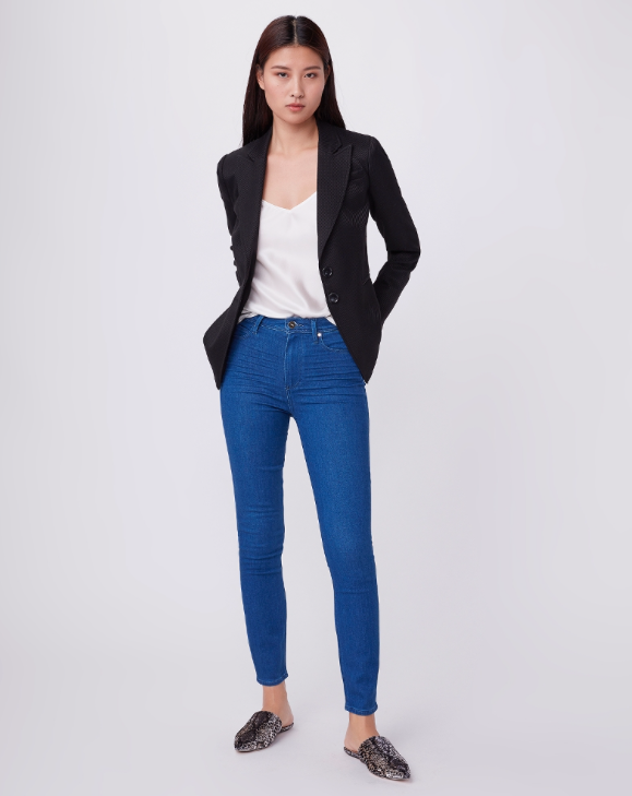 Say hello to our favourite  high waisted skinny jean, the Margot, in a gorgeous mid wash.  So soft you'll never want to take them off, yet managing to magically retain their shape and hug your body in all the right places.  Perfect with a heel and a pretty top for evening or pair with your favourite trainers and a tee for day.