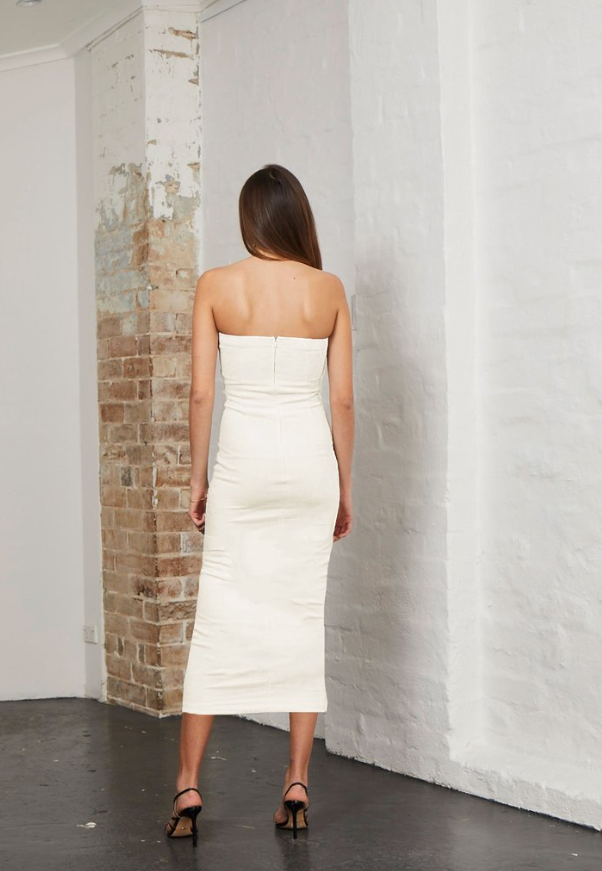 "Gorgeous fitted ivory dress from Bec & Bridge - it really is ""Simply Irresistible""."
