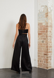 Effortlessly cool black wide leg trousers with matching belt from Bec & Bridge.
