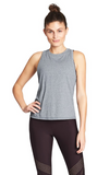 This tank has you covered in the front and open at the back to keep you cool as you work up a sweat.
