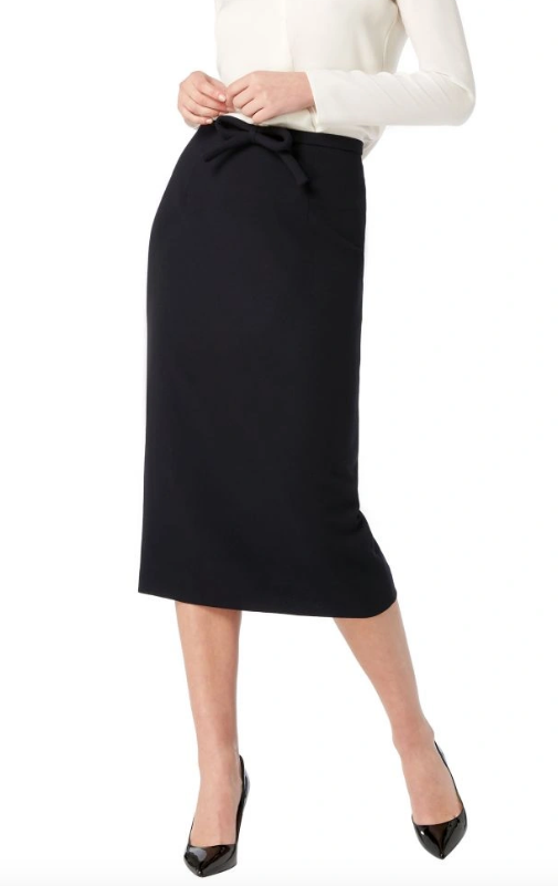 Another classic from Goat - this gorgeous wool crepe pencil skirt is beautifully fitted with a lovely stuffed bow at the waist.  It's 100% wool, fully lined and has a concealed centre back zipper.