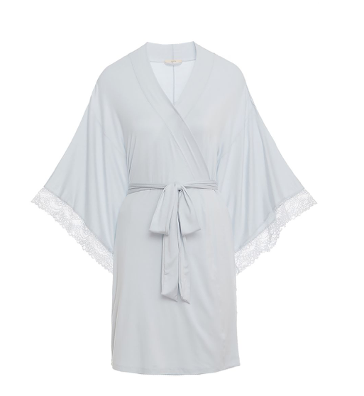 For a truly special occasion, the layer you wear closest to your skin should be just as memorable. The Sara collection includes lingerie and sleepwear befitting those big life moments. Perhaps best of all, each piece is designed to be comfortable enough for every day. The mademoiselle kimono robe is for those times when you need a little extra coverage, but want your top layer to be just as pretty as what's hidden beneath. A seriously dramatic yet simple cover-up.