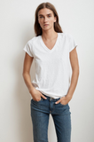 To a tee  - crafted from Velvet's whisper soft cotton slub, this classic V has a delicious texture and a silhouette that makes it infinitely flattering.  Like us, you'll find a reason to wear this one almost daily.