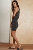 Short and sweet, crafted from a double layer of Velvet's signature cotton slub, which is whisper soft and also features a slight heathered texture, this frock is the epitome of speed dressing.  Featuring a slim fit top and a skirt that has a flattering, shirred side seam from the waist down to the hemline.  No accessories needed!