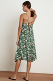 Where are you going this summer?  Hopefully somewhere in this fresh frock from Velvet.  Crafted from their luxe woven challis and featuring a vacation approved floral print, this dress has a cocoon silhouette, spaghetti straps with a tie in the back so you can adjust the length, and a fabulous drape.
