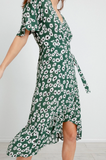Florence Dress - Midi Length Wrap Dress
