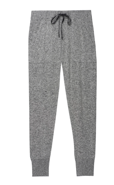 Super soft brushed jersey pant with front patch pockets, elastic waist with velvet drawstring closure, and ribbed tapered leg. Amazing for when you want to lounge in the house or simply go about your day in the most comfortable fashion possible.
