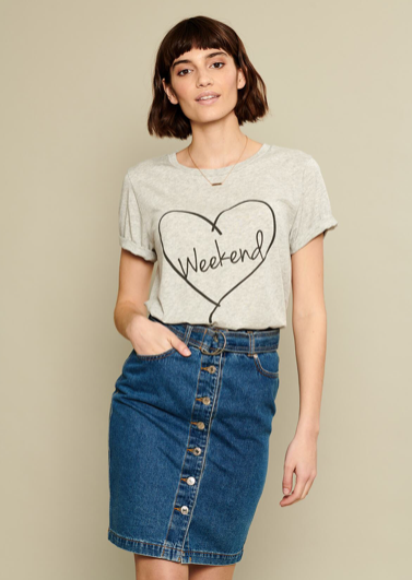 "Gorgeous soft tee from South Parade - perfect for the ""weekend""!"