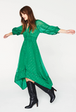 The perfect dress from ba&sh - great midi length with asymmetrical hem, great shape, great print - just what your Autumn wardrobe is crying out for!
