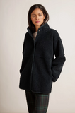 This is a gorgeous reversible jacket from velvet - eco friendly faux sherpa on one side and faux fur on the other.  It comes in a relaxed shape that is perfect for layering over your chunky knits.