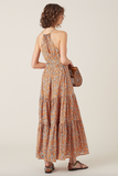 Lovely high neck maxi dress from Tiger Lily with adjustable drawstring at the neckline and sash tie belt.