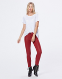 Verdugo Ankle Coated Jean - Ruby Rouge