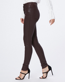 Hoxton Skinny Coated Jean - Chicory Coffee