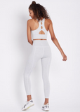 Back in Action White Sports Bra