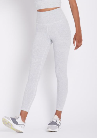 These studio high rise leggings are a flattering 7/8th leg length and have a comfortable wide waistband that will move with you (without moving itself) through whatever workout takes your fancy!  Sometimes white leggings aren't particularly flattering but these with their 4 way stretch and gorgeous fabric will hold you in all the right places.
