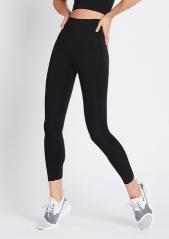 Everyone needs a pair of black work out bottoms and these All Day High Rise Black Leggings tick all the boxes.  Featuring a comfy wide waistband and a raw cut hem and made with a four way stretch fabric and quick dry technology these will be your go to leggings.  You're also doing your bit for the environment as the fabric for these All Day High Rise Leggings not only fits like a second skin it it made from a mix of old recycled bottles and a touch of spandex.  It's a win win!