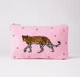 This gorgeous little velvet pouch makes a fantastic gift - one of our favourite ones from Elizabeth Scarlett - we love the leopard and the pretty pink background.  Perfect for travelling and perfect for at home just to keep in your handbag.  Or use it as a handbag!