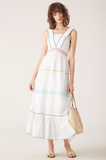 This gorgeous 100% cotton maxi dress from Tigerlily with broiderie detailing and a high neckline is your perfect Summer statement dress. Pair with pretty flat sandals or sliders, grab a wicker basket and transport yourself to the South France.