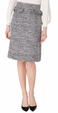 Tweed is new for Goat for Spring Summer '20 and this beautifully structured skirt is a great addition to your wardrobe.  With its high waist, frayed trim and flattering A line shape this is a classic style that will never date.  Pair with a feminine white silk blouse and you will be effortlessly elegant.