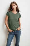 This short sleeve crew neck tee from Velvet crafted from their whisper soft cotton slub with a slightly shorter sleeve and a relaxed silhouette is a tee you will reach for again and again. We would suggest getting them in every colour!