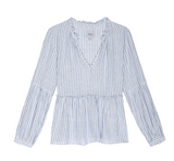 A classic from Rails.  In a flattering, effortlessly relaxed shaped, nipped in slightly at the waist, this will suit most of us.  In pretty blue and white stripes this looks great paired with denim or white jeans.