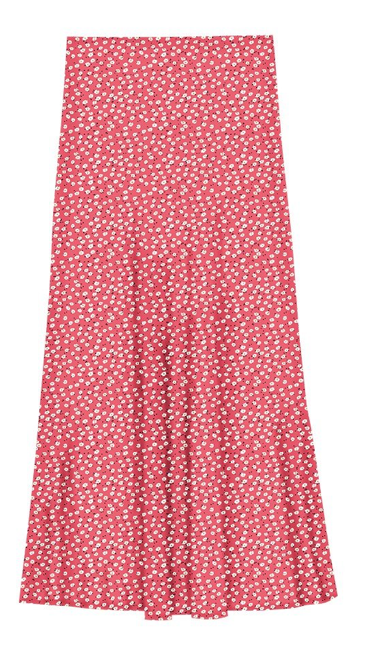 A pretty high waisted skirt from Rails.  Such an easy style to wear with its elasticated waist and Rails have also thoughtfully put in a satin back lining which elevates the skirt and creates a better drape and shape.  Pair with a white tee or chunky knit and trainers for the day and slip into a silky blouse and heel and bingo you're ready for cocktails.