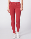 Step into Spring with Paige's skinny jeans in a bright red/pink colour.  Crafted from their super soft transcend fabric these move with you and have the feel of a legging with the structure of a jean.  Paired with a white tee and trainers and you're ready to face the weekend with style.