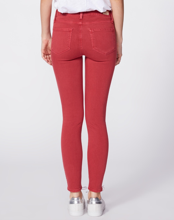 Hoxton Red Ankle Skinny Denim