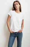 Can one ever have enough white tees?!  Tressa from Velvet is whisper soft with a slightly shorter sleeve and a flattering crew neck.  What's not to love?