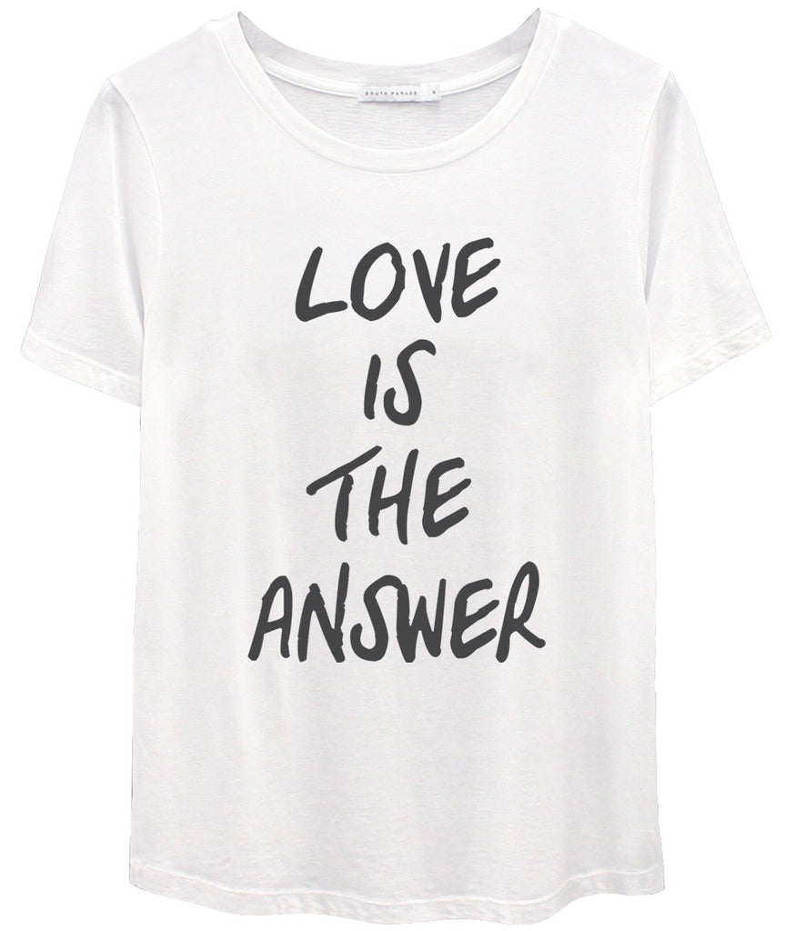 South Parade Love is the answer tee in white