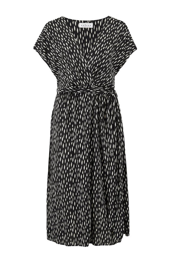 Lovely faux wrap dress from Velvet in the softest of viscose fabric which makes the dress fall beautifully and flatter the body.