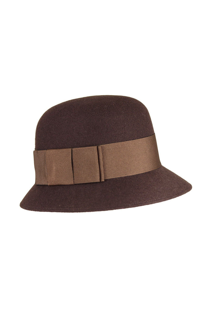 Brown 1920s hat