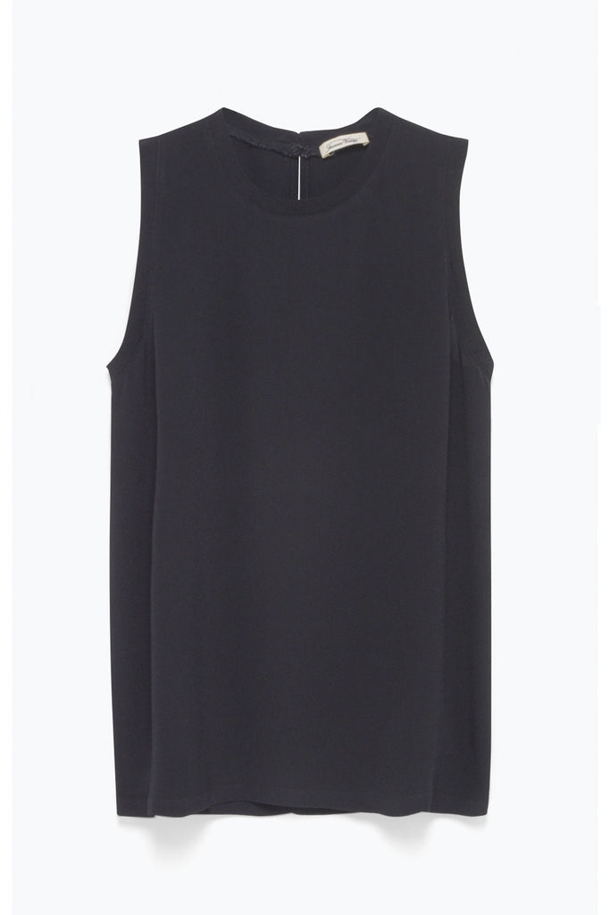 Black sleeveless smart simple top by American Vintage at Peek Boutique
