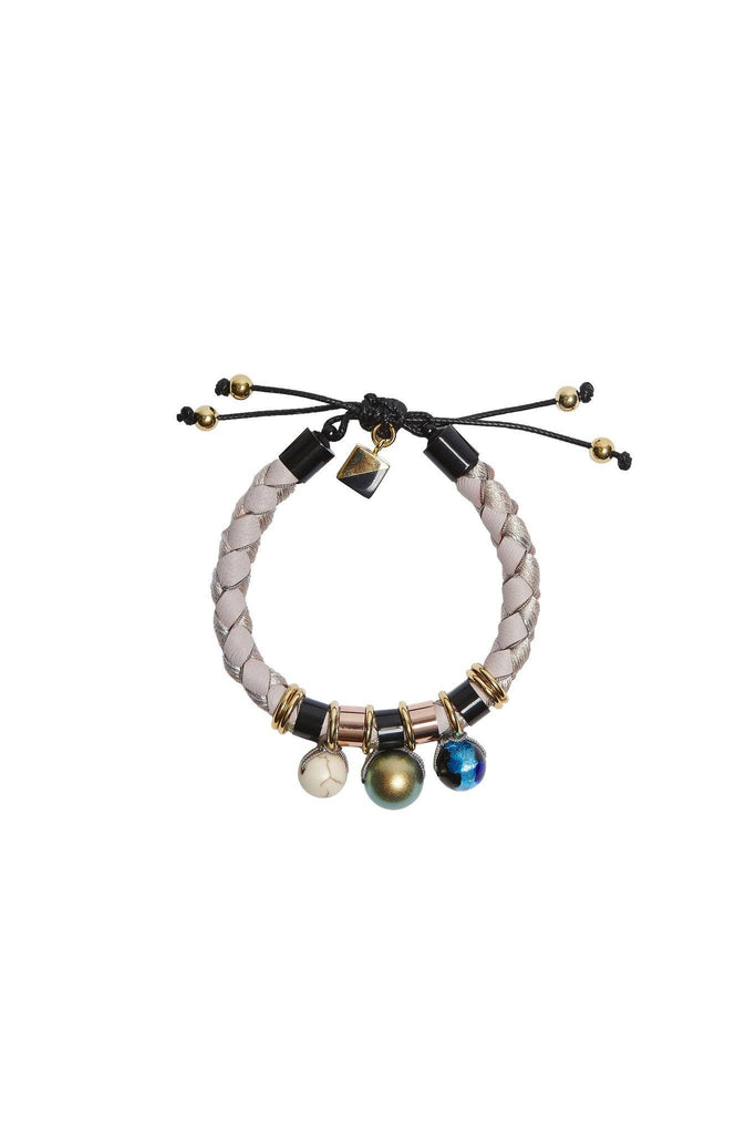 Pastel beaded, plait friendship bracelet by Nocturne at Peek Boutique